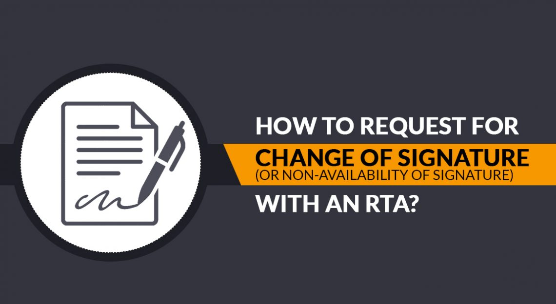 Signature Changing Request with RTA