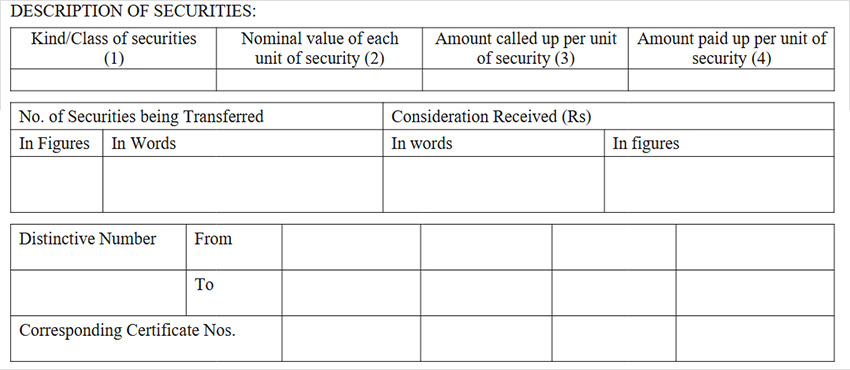 Securities Transfer Form Step 2