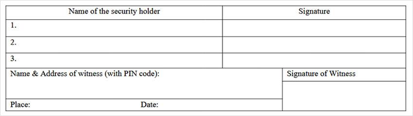 SH-13 - Nomination Form Declaration