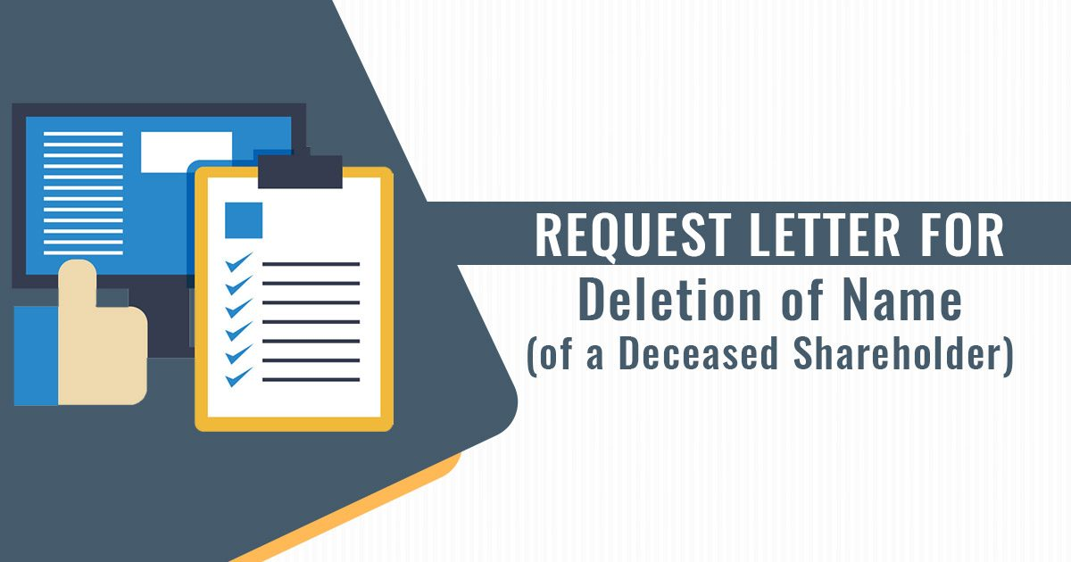 Request Letter for Deletion of Name