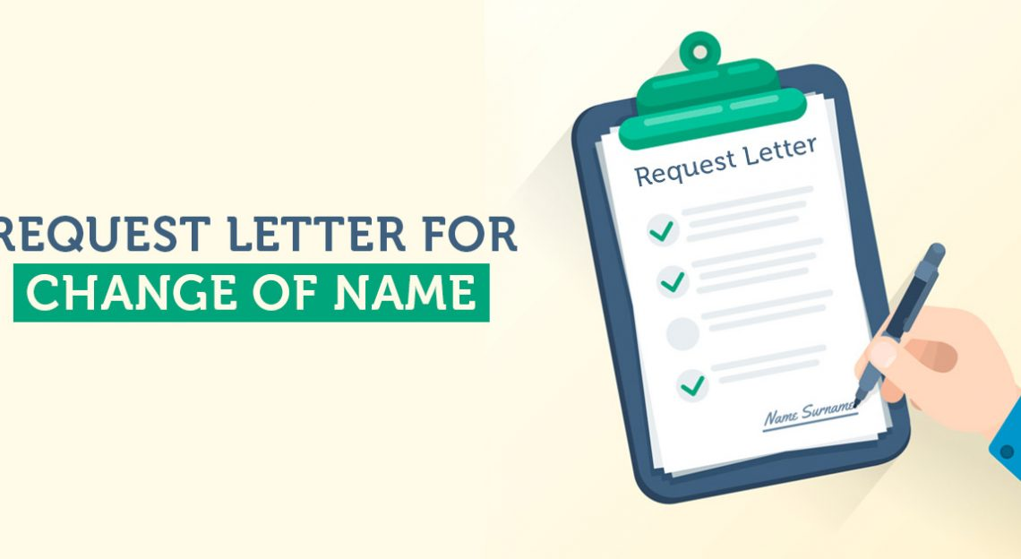 Request Letter for Change of Name