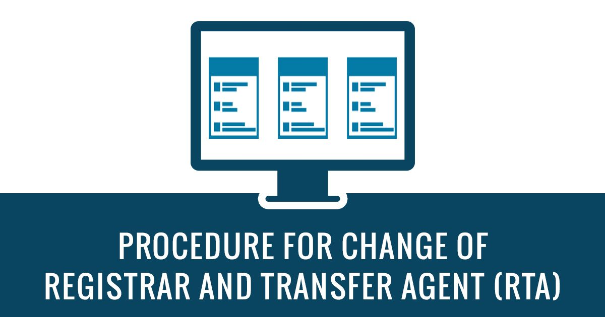 Procedure for Change of RTA