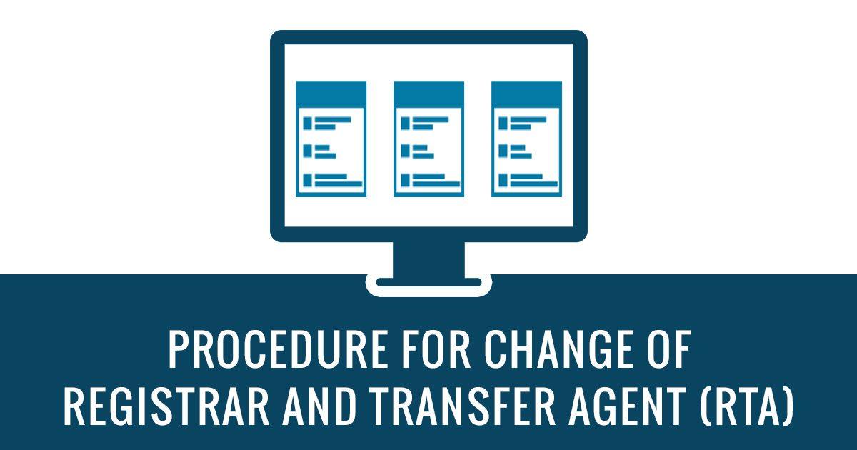 Procedure for Change of RTA