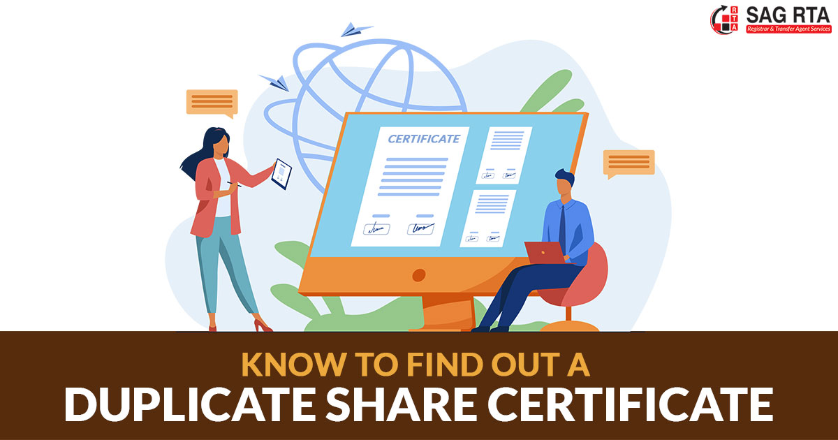 Know How to Find out a Duplicate Share Certificate