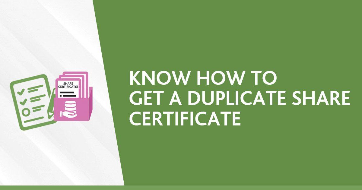 Duplicate Share Certificate