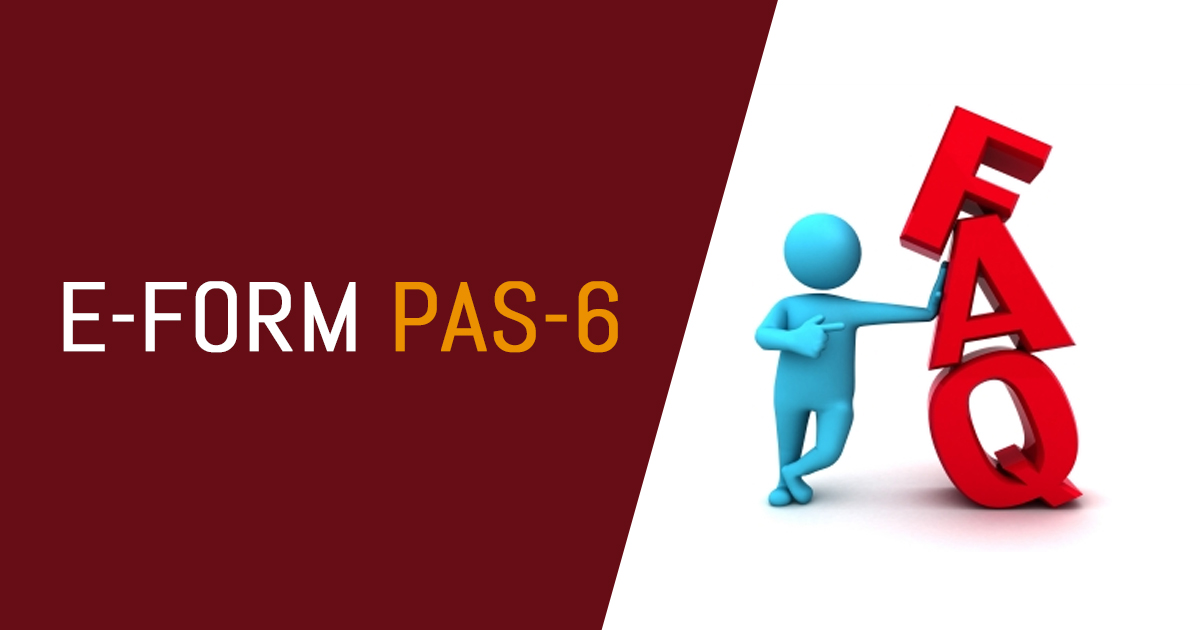 Frequently Asked Questions (FAQs) on E-form PAS-6 | SAG RTA