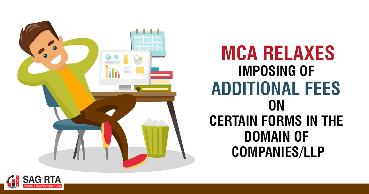 MCA Relaxes Imposing of Additional Fees on Certain Forms in the Domain of Companies/LLP